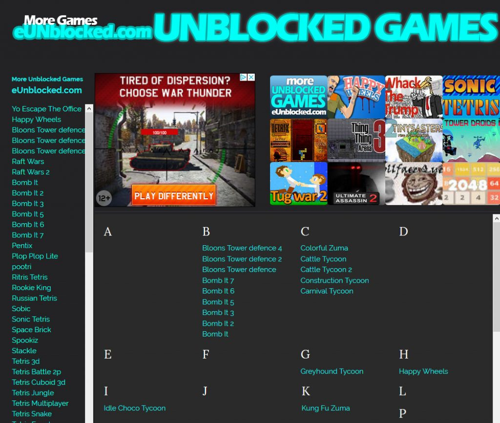 Weebly Games Websites