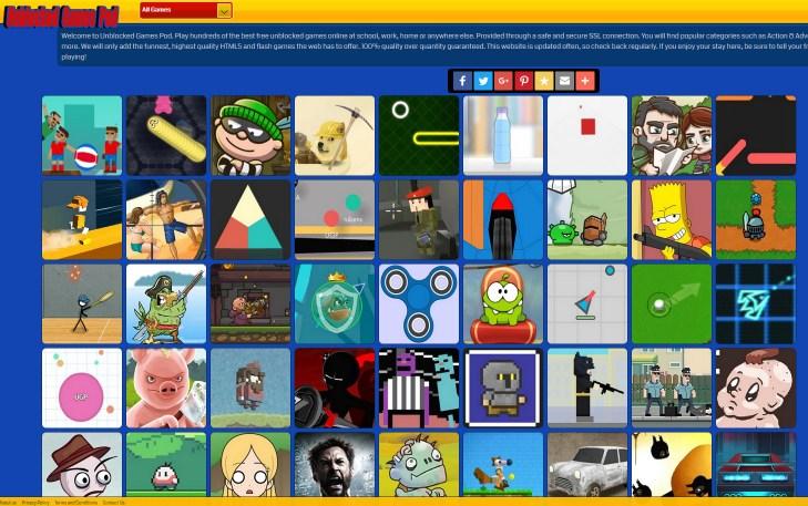 free game websites not blocked at school