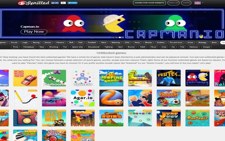 Spritted Website