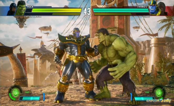 Marvel VS Capcom Infinite hulk